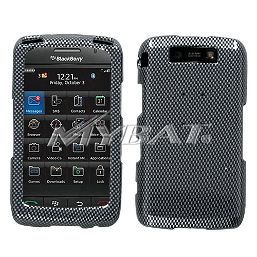 SnapOn Phone Cover Protector Case for Blackberry Storm2 9550  Carbon Fiber