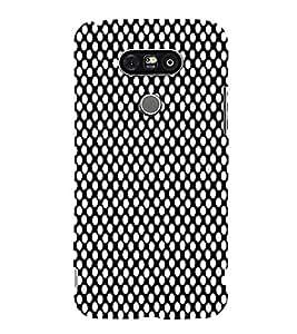 Black Crazi Dot Pattern 3D Hard Polycarbonate Designer Back Case Cover for LG G5 :: LG G5 H850 H820 VS987 LS992 H860N US992