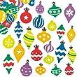 Autocollants Boules de No�l en mousse que les enfants pourront utiliser pour d�corer les loisirs cr�atifs et les cartes de No�l (Lot de 120)