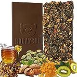 BOGATCHI Dark Chocolate Granola Bars With HONEY, ALMONDS, CRUNCHY, PUMPKIN SEEDS, RAISINS, KIWI - ENERGY BAR,...