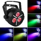 Stage Lights, OPPSK Multi-Effects RGB+UV+SMD Strobe LED Par Can by Remote DMX Control Uplights for Wedding DJ Party Wash Lights (Color: led par lights RGB/UV Strobe lights, Tamaño: 13x13x13cm)