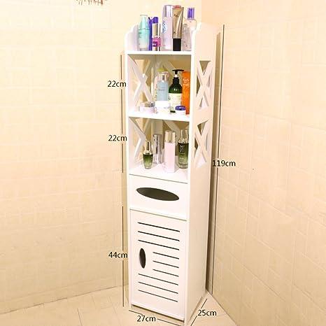toilette/lato/Rack/mobili bagno piano/Servizi igienici impermeabile armadi mobili stretti-B