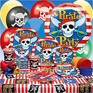Click to buy Pirate Birthday Party Ideas: Deluxe Party Kit from Amazon!