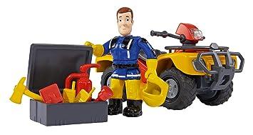 Simba 109257657–Quad de pompier Sam Mercury avec figurine et accessoires