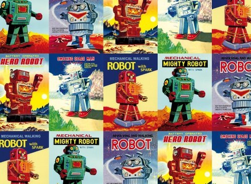 Rossi Vintage Robots Wrapping Paper (Robot Wrapping Paper compare prices)