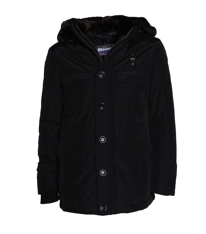 Blauer USA Herren Jacke Winterjacke in schwarz aus Baumwolle - Gr. XL