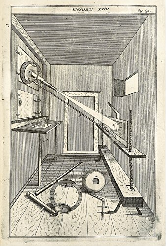 POSTER A3 Medicine Projection of light through a telescopic lense Appears In: Oculus artificialis teledioptricus; sive, Telescopium, ex abditis rerum naturalium & artificialium.., part 3, p. 191