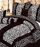 QUEEN Size MicroFiber (Micro Fur) Bed in a Bag 7 pc. Comforter Bedding Set  ....