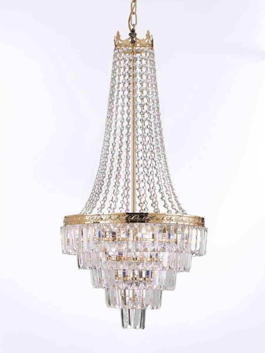 French Empire Crystal Chandelier Lighting Empress Crystal Tm H X Wseven Ebay