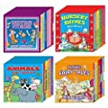 Mini Library Board Books - Black Friday - Cyber Monday Special Bumper Gift Pack for Toddlers, Children, Babies - Bedtime Board Book - Nursery Rhymes Board Book - Fairy Board Book - Animals Board Book Mini Library - 24 Board Books Collection Set RRP £17.96