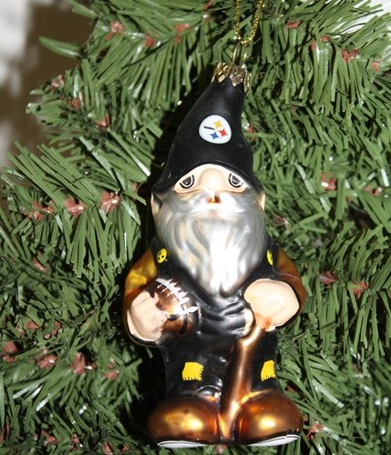 Pittsburgh Steelers Blown Glass Gnome Ornament at SteelerMania