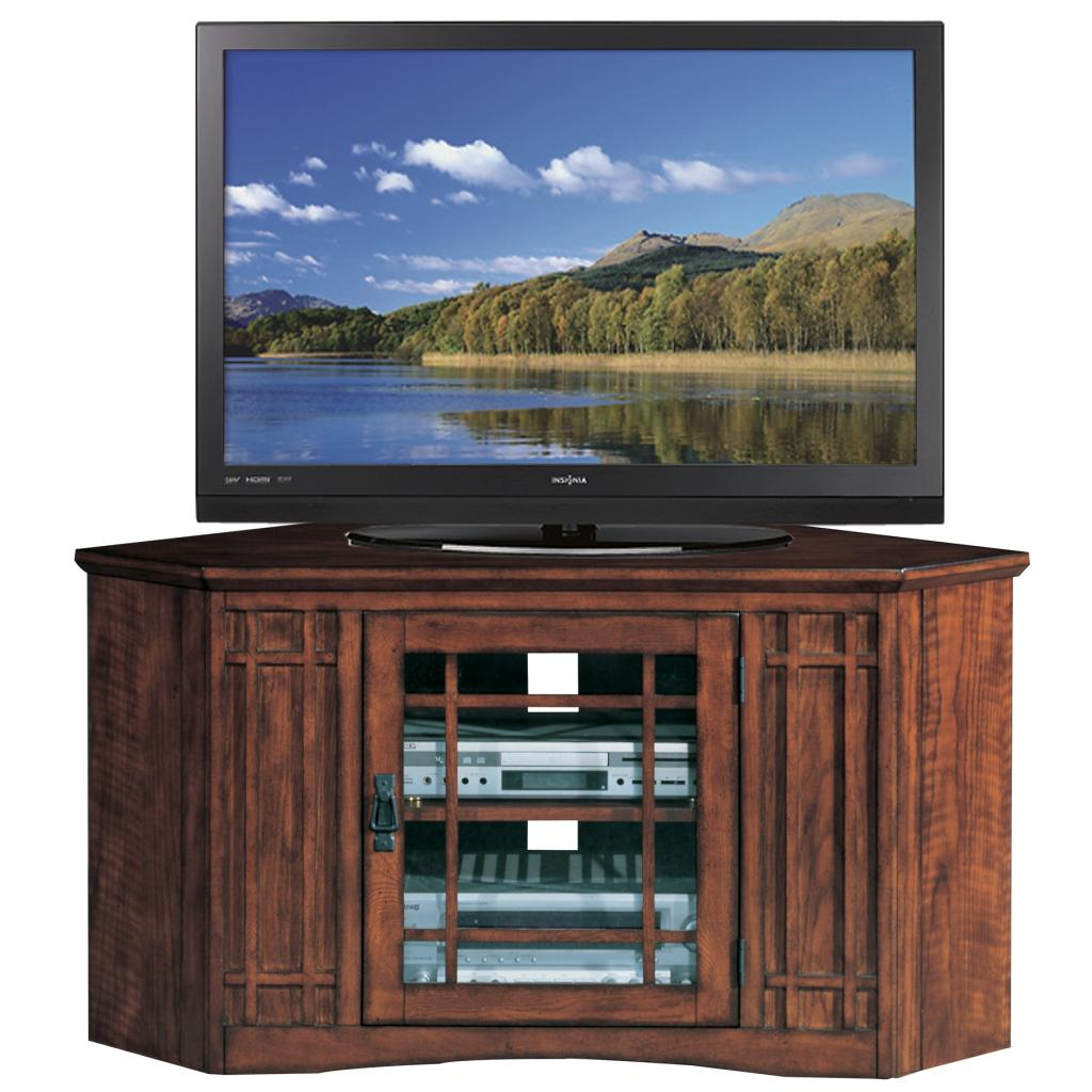 leick riley holliday mission tall tv stand 50 inch oak oak tv console. Black Bedroom Furniture Sets. Home Design Ideas