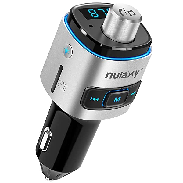 Bluetooth FM Transmitter for Car, Nulaxy V4.2 Bluetooth FM Radio Adapter Wireless Car Kit with QC3.0 Quick Charge, Support USB Drive, TF Card, Hands-Free, Activate Siri/Google Now - NX09 (Color: NX09)