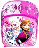 Disney Frozen Elsa & Anna Olaf Large 16 Backpack Pink Glitery