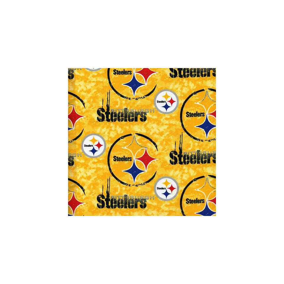 NFL Pittsburgh Steelers Cotton Print Fabric  Sports Fan Home Decor  Sports & Outdoors