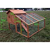 "DELUXE 74"" Rabbit Hutch Poultry Cage Bunny Chicken Coop Guinea Pig Ferret Hen"