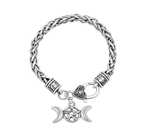 Triple moon goddess pendant wicca pentagram magick amulet aloadofball Image collections