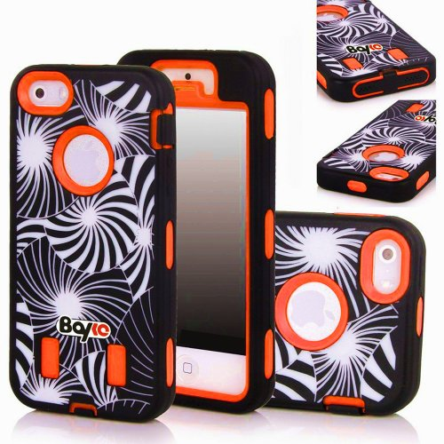 Bayke Brand Premium Armorbox Armor Defender Case for Apple Iphone 5 5S (5C Not Fit) Fashion Dream Catcher Design High Impact Dual Layer Hybrid Full-body Protective Bumper Case (Orange / Screen Protector not Include) at Amazon.com
