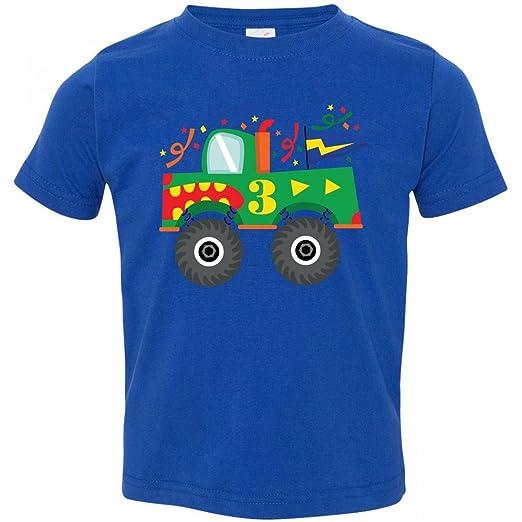 Inktastic Little Boys' 3rd Birthday Monster Truck Toddler T-Shirt