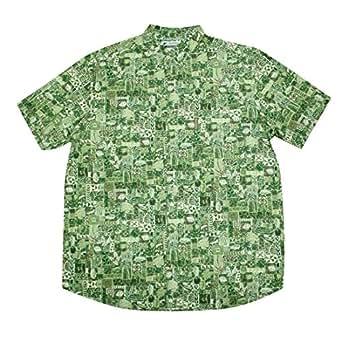 Big tall mens columbia button down short sleeve summer for Mens xxl tall dress shirts