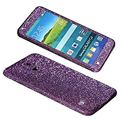 Dreams Mall(TM)New Hot Bling Glitter Crystal Diamond Whole Body Protector Film Sticker for Samsung Galaxy S5-Purple