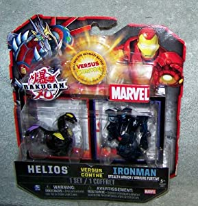 Amazon.com: Bakugan Helios vs Iron Man Stealth Armor: Toys ...