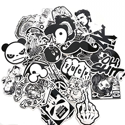 Evinis - 60PCS Random Music Film Vinyl Skateboard Guitar Travel Case Sticker Lot Pack Decals (Sticker Decals For Laptops compare prices)