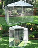 Lucky Dog Run/Kennel Galvanised Metal Highest Quality (15X5X6)