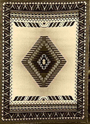 South West Native American Area Rug Berber Design #D143 (5ftx7ft)