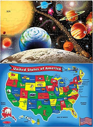 promo offer melissa doug solar system and usa map floor puzz