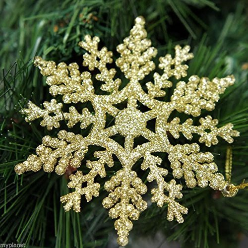 12-x-gold-glitter-snowflake-shape-hanging-christmas-tree-ornament-window-decoration-xmas-accessories