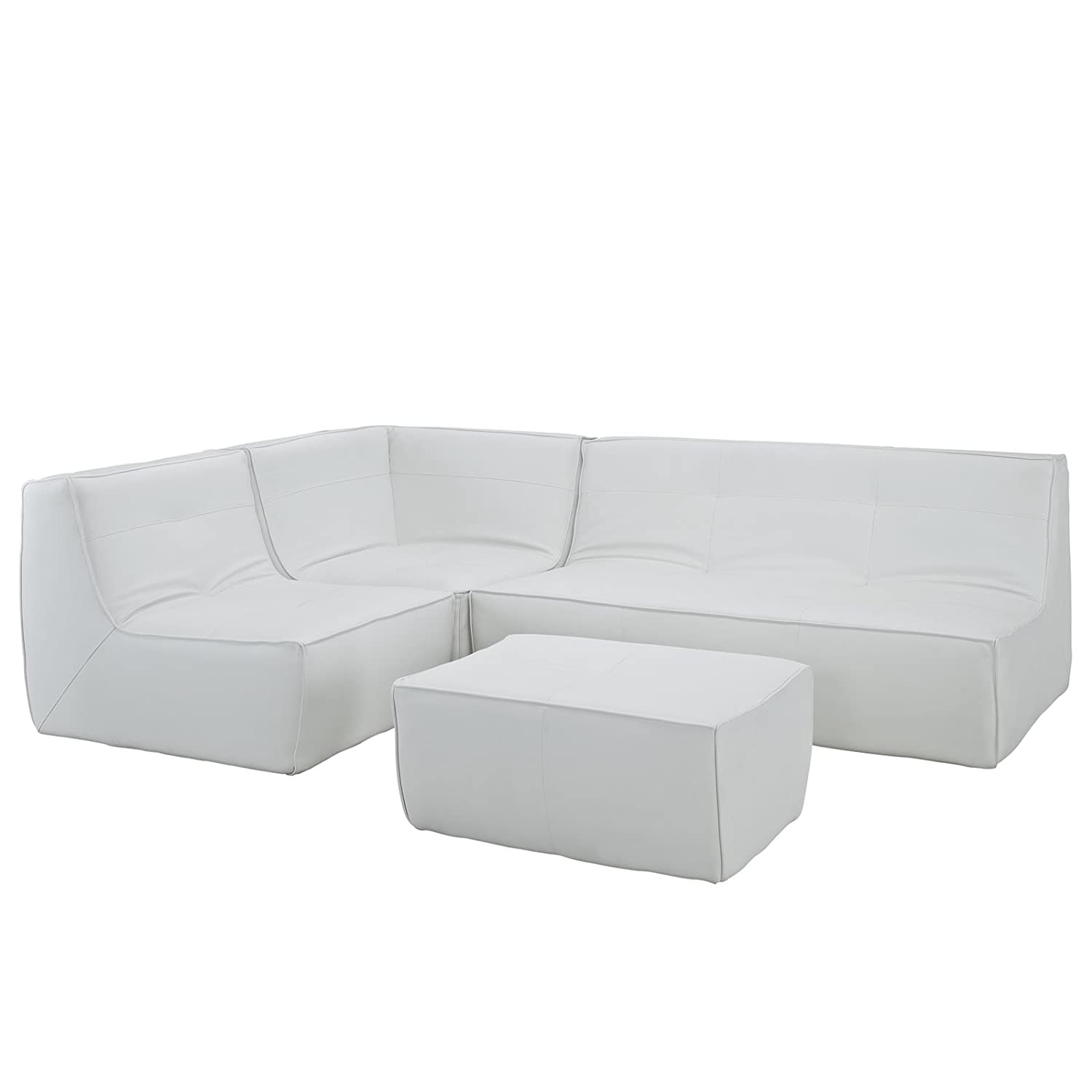 Align 4 Piece Bonded Leather Leather Sectional Sofa + FREE Ebook for Modern Home Design Inspirations