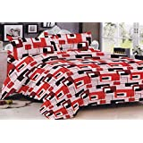 Lali Prints Blocks Print 1 Double Bedsheet And 2 Pillow Covers
