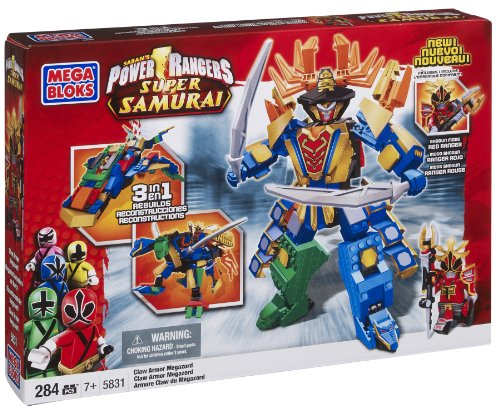 Mega Bloks Power Rangers Samurai Claw Armor Megazord (Power Rangers Lego compare prices)