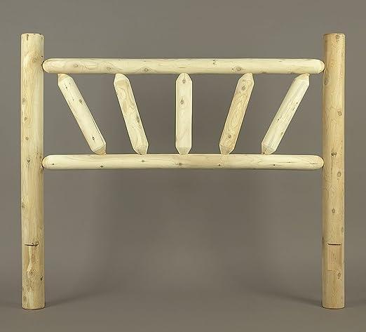 Rustic Natural Cedar Bed, Twin Sunburst Headboard O