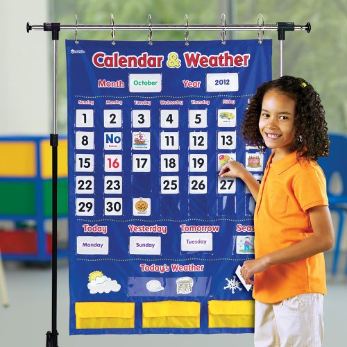 Kids Weather Calendar : Learning resources calendar and weather pocket chart