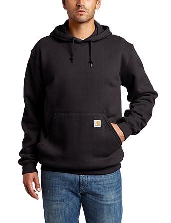 Carhartt Men's  MW Hooded Sweatshirt, Black, Small