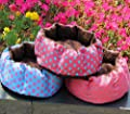 Fairy Season Polka Dot Plush Pet Small Dog Kitten Bed Cushion Nest Random Color