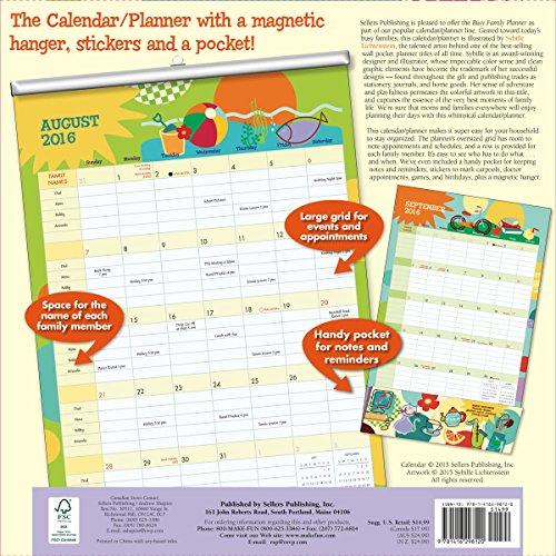 Busy Family Planner 17 Month 2016 Calendar