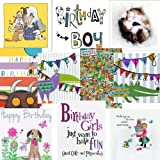 Birthday cards pack. Party time 2 - 10 Children's Birthday cardsby Squashed Tomato