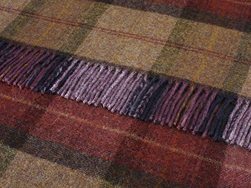 bronte-by-moon-skye-check-pure-new-shetland-100-wool-throw-mulberry-140cm-x-185cm