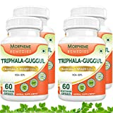 Morpheme Triphala Guggul Supplements For Cleansing & Weight Loss - 500mg Extract - 60 Veg Capsules - 4 Combo Pack...