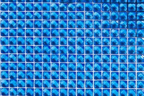 Dress My Cupcake 20-Inch Diamond Rhinestone Adhesive Sheet, Ocean Blue