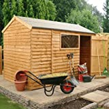 10ft x 6ft Reverse Overlap Apex Wooden Storage Shed - Brand New 10x6 Wood Sheds