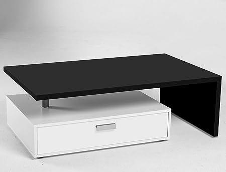 Expendio 44849084 Couchtisch, MDF/Spannplatte, schwarz, 65 x 105 x 37 cm