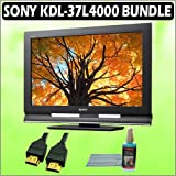 Sony Bravia L-Series KDL-37L4000 37-inch 720p LCD HDTV + Accessory Bundle Flat Screen LCD Cleaning K