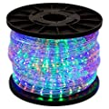 GotHobby 150' RGB Multi-color 2 Wire 110v LED Rope Light Home Outdoor Christmas Lighting