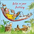 Male Birthday Card - Quentin Blake - Man Lying in Hammock (WDM5999)