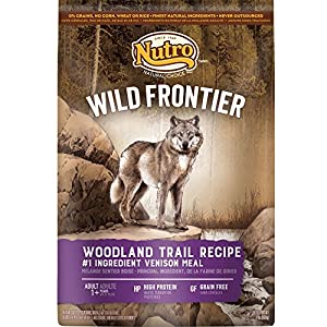 NUTRO Wild Frontier Woodland Trail Recipe Grain Free Venison Meal Dry Dog Food 24 Pounds