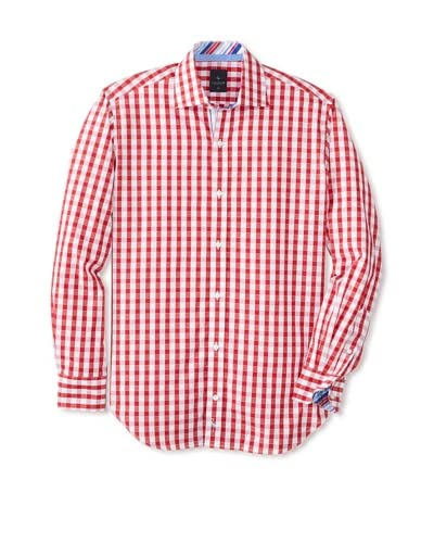 TailorByrd Men's Cruise Long Sleeve Gingham Classic Sportshirt